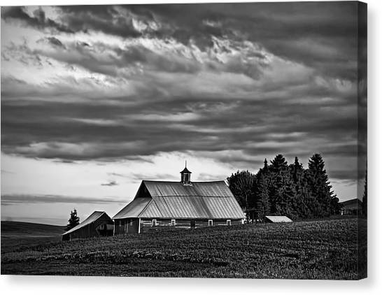 Contour Canvas Print - Genesee Barn by Latah Trail Foundation