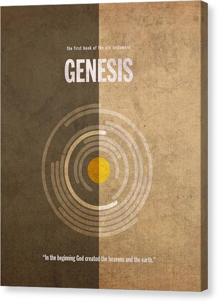 Old Testament Canvas Print - Genesis Books Of The Bible Series Old Testament Minimal Poster Art Number 1 by Design Turnpike