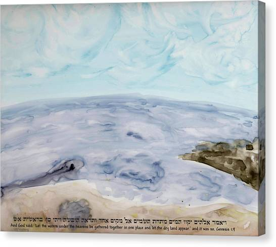 Canvas Print featuring the painting Genesis by Linda Feinberg