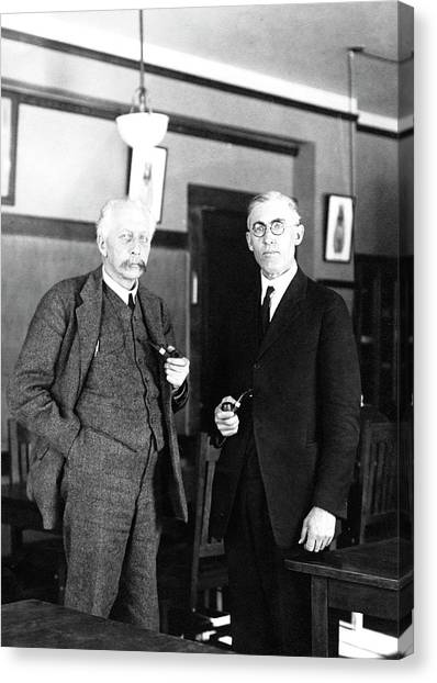 Cornell University Canvas Print - Geneticists Bateson And Emerson by American Philosophical Society