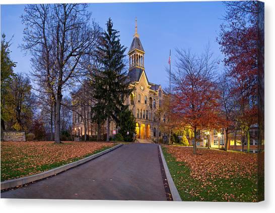 University Of Pittsburgh Canvas Print - Geneva College by Emmanuel Panagiotakis