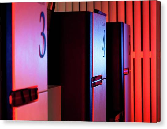 Genome Sequencing Machines Canvas Print by Martin Krzywinski/science Photo Library
