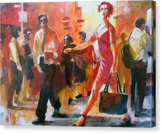 Gente Per Strada Canvas Print by Alessandro Andreuccetti
