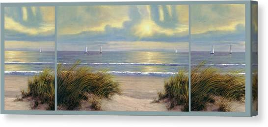 Gentle Breeze Trip Tych Canvas Print