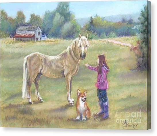 Gentle Friends Canvas Print by Ann Becker