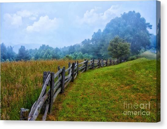 Gentle Morning - Blue Ridge Parkway I Canvas Print