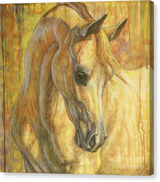 Horses Canvas Print - Gentle Spirit by Silvana Gabudean Dobre