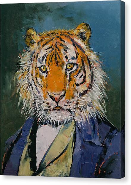 Siberian Cats Canvas Print - Gentleman Tiger by Michael Creese