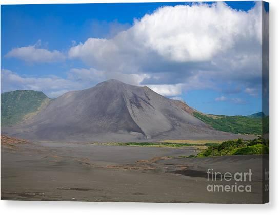 Gently Smoking Volcano Canvas Print