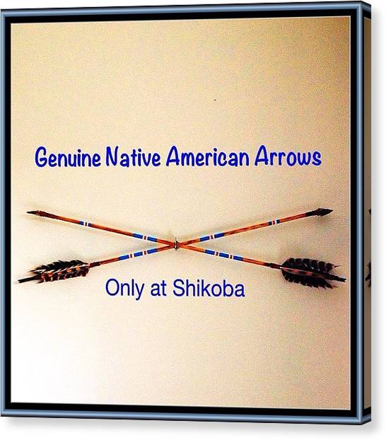 Medicine Canvas Print - Genuine Native American Arrows Now by Shikoba Photography