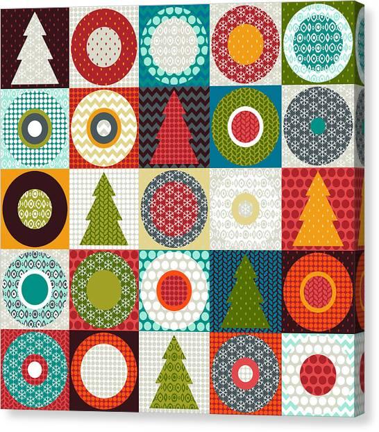 Pattern Canvas Print - Geo Christmas by Sharon Turner