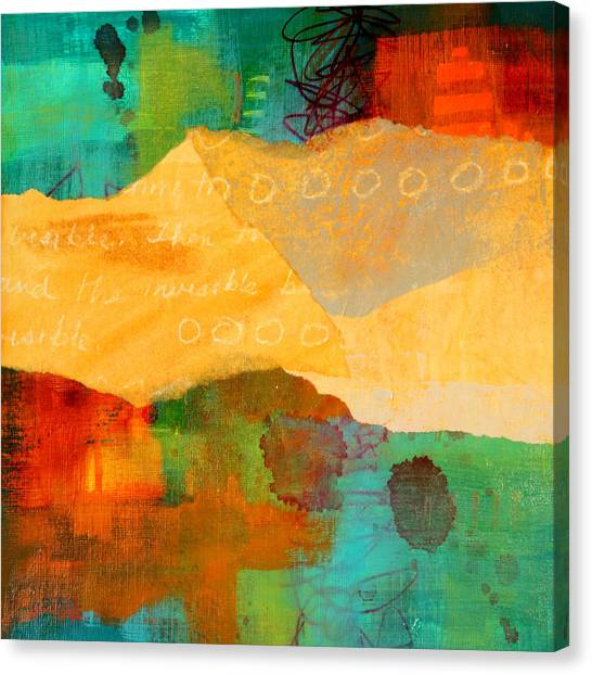 Torn Paper Collage Canvas Print - Geography by Nancy Merkle