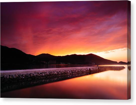 Geoje Skyfire Canvas Print