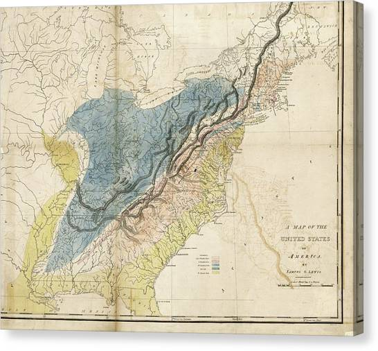Geological Map Of The Eastern Usa Photograph by Library Of Congress ...