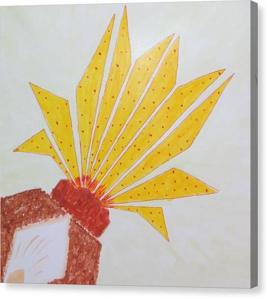 Geometric Blooming Lotus Canvas Print
