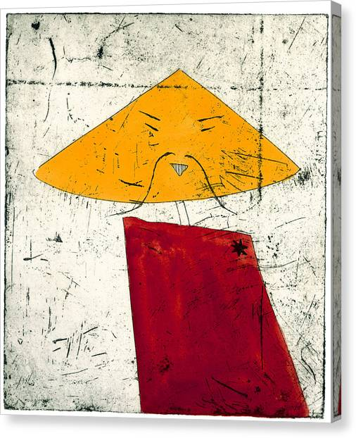 Geometric Figure With Face Canvas Print by Tim Southall
