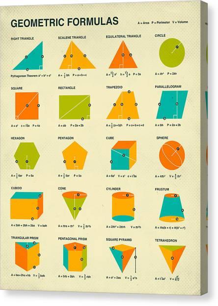 Geometry Canvas Print - Geometric Formulas by Jazzberry Blue
