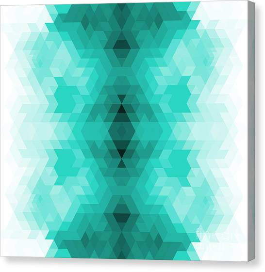 Color Image Canvas Print - Geometric Hipster Retro Background by My Portfolio