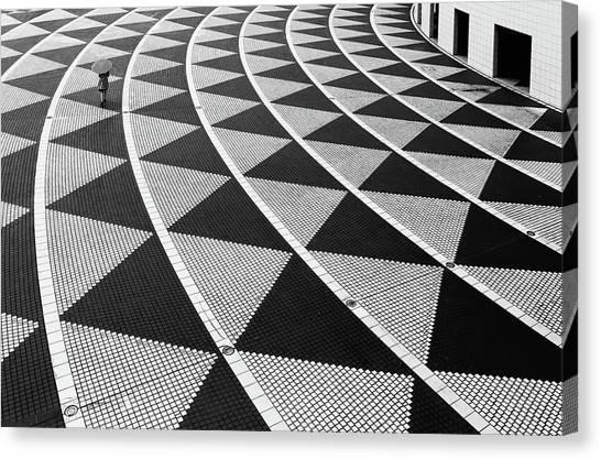 Triangles Canvas Print - Geometric by Hiroharu Matsumoto