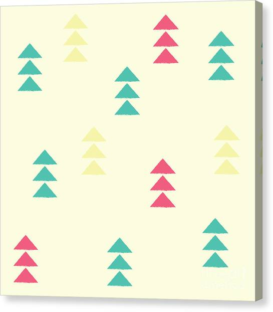 Block Canvas Print - Geometric Triangles, Seamless Pattern by Bluelela