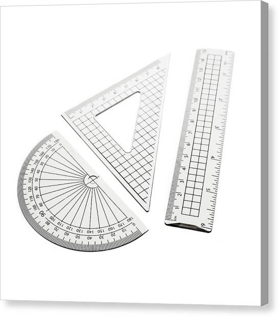 Protractors Canvas Print - Geometry Set by Science Photo Library