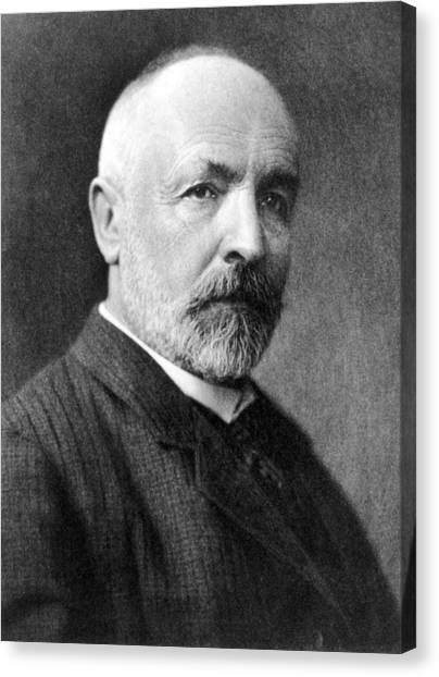 Irrational Canvas Print - Georg Cantor, German Mathematician by Science Photo Library
