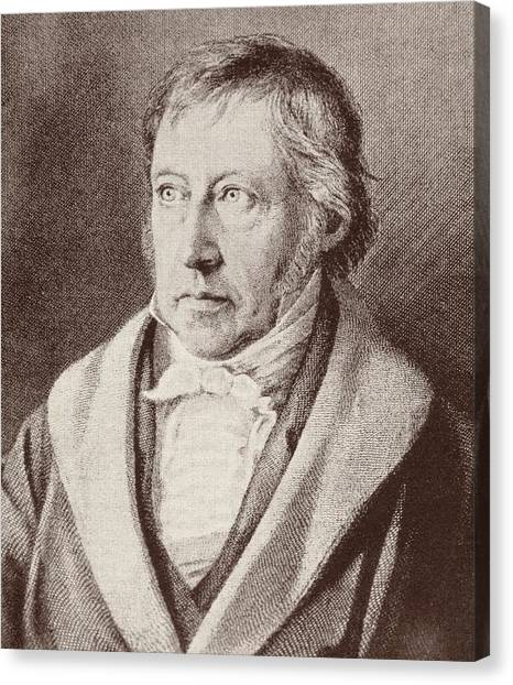 Half-length Canvas Print - Georg Hegel  by Anonymous