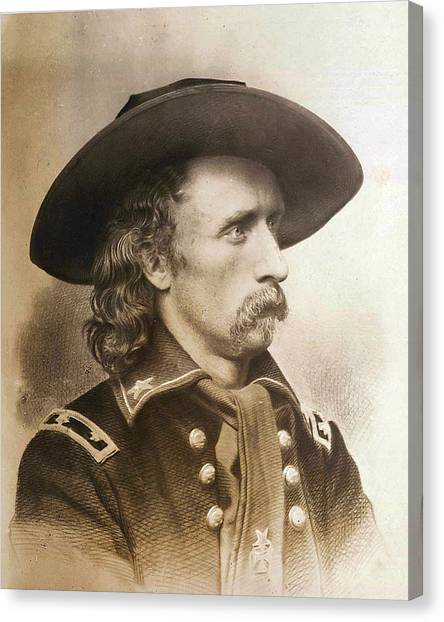 Us Civil War Canvas Print - George Armstrong Custer by Unknown