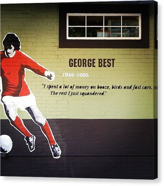 Manchester United Canvas Print - George Best by Rob Schlederer