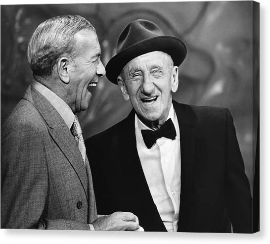 Big Sister Canvas Print - George Burns And Jimmy Durante by Underwood Archives