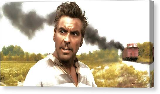 George Clooney In The Film O Brother Where Art Thou Canvas Print