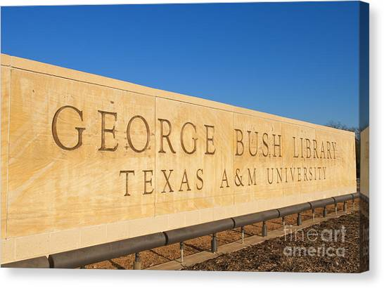George Bush Canvas Print - George H. Bush Library, Texas by Bill Bachmann