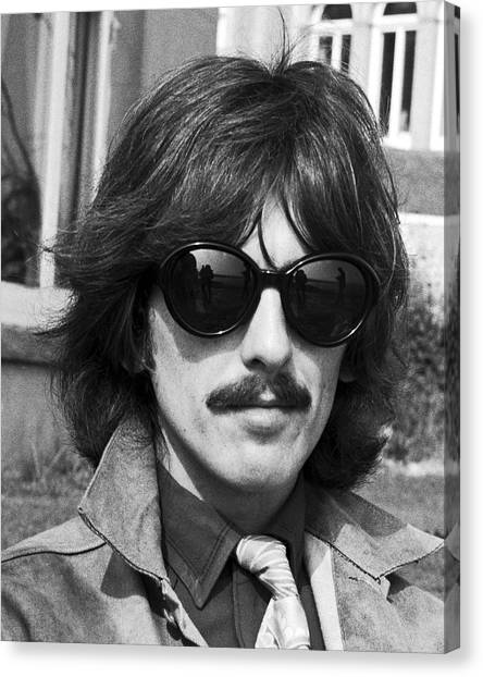 George Harrison Canvas Print - George Harrison Beatles Magical Mystery No.2 by Chris Walter