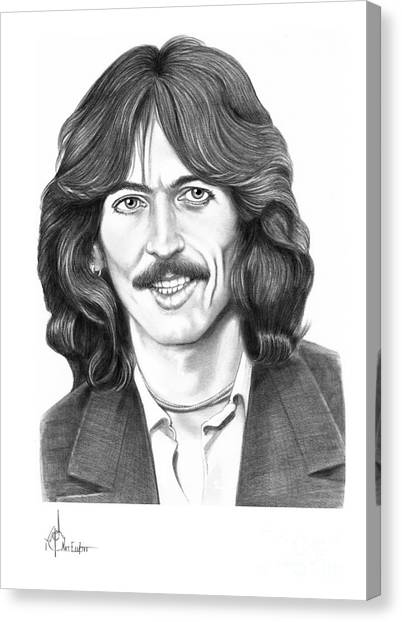 George Harrison Canvas Print - George Harrison by Murphy Elliott