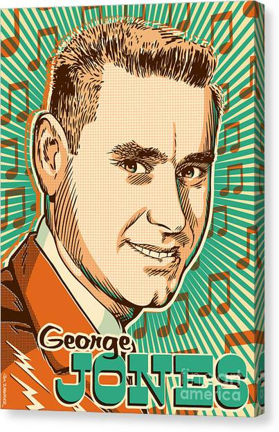George Jones Pop Art Canvas Print