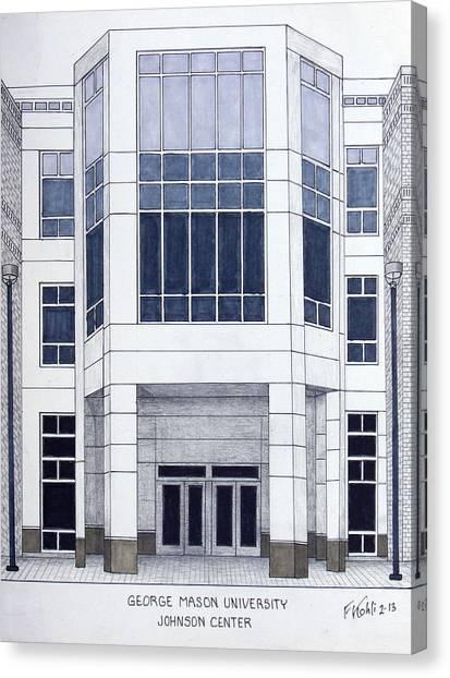 George Mason University Mason Canvas Print - George Mason University by Frederic Kohli