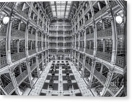 Johns Hopkins University Canvas Print - George Peabody Library II by Clarence Holmes