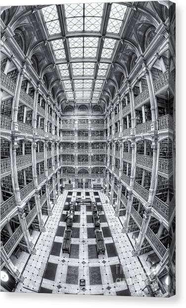 Johns Hopkins University Canvas Print - George Peabody Library Iv by Clarence Holmes