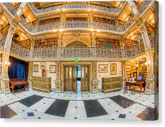 Johns Hopkins University Canvas Print - George Peabody Library V by Clarence Holmes