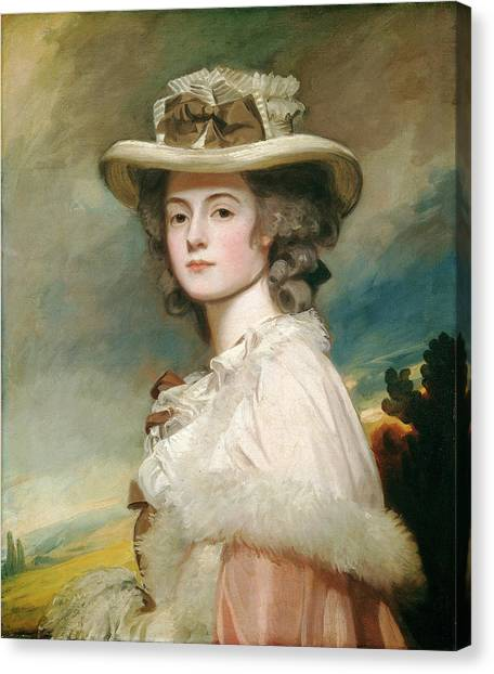 George Romney, Mrs Canvas Print by Quint Lox
