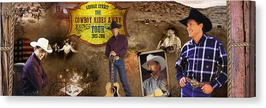 George Strait Cowboy Rides Away Canvas Print by Retro Images
