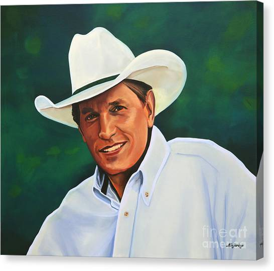 Glamour Canvas Print - George Strait by Paul Meijering
