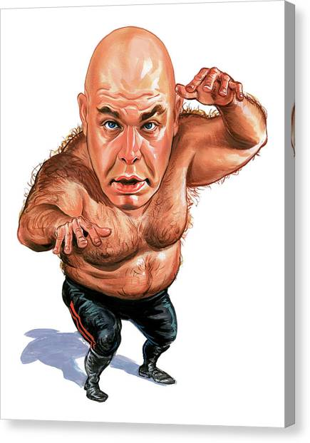 Wwe Canvas Print - George The Animal Steele by Art