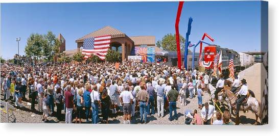 George W. Bush Canvas Print - George W. Bush Campaign Whistle-stop by Panoramic Images