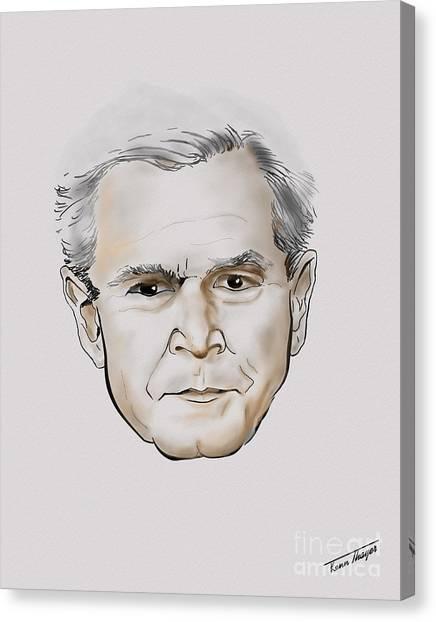 George W. Bush Canvas Print - George W. Bush by Charles Thayer