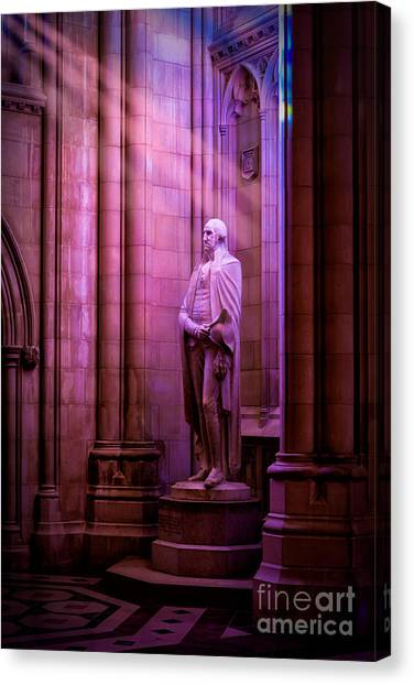 George Washington At The National Cathedral Canvas Print