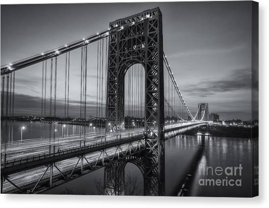 George Washington Bridge Morning Twilight II Canvas Print