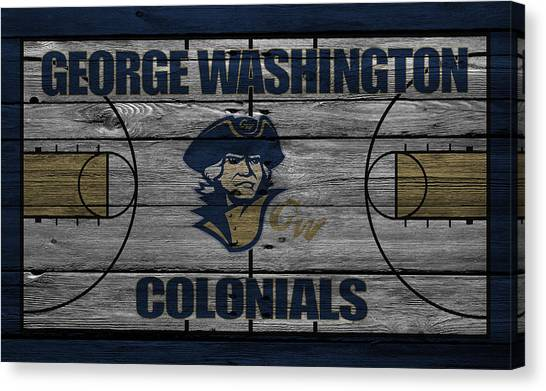 Washington State University Canvas Print - George Washington Colonials by Joe Hamilton