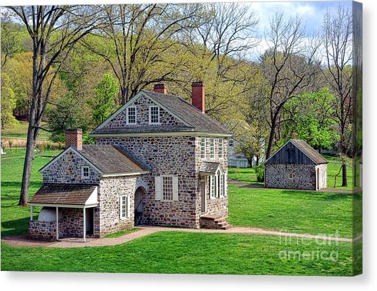 George Washington Headquarters At Valley Forge Canvas Print
