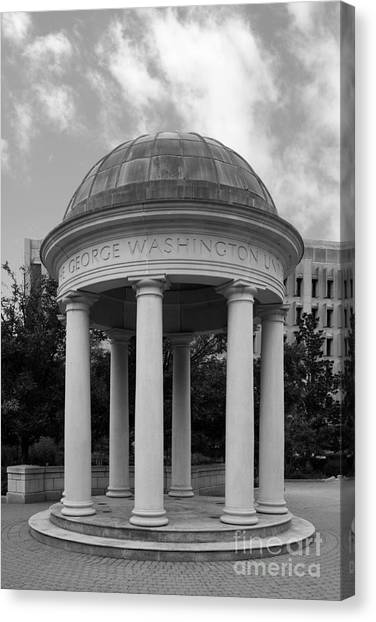 George Washington University Gwu Canvas Print - George Washington University Kogan Plaza by University Icons